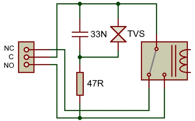 DEV-DS2824-12 and DEV-DS2824-24 snubber circuit