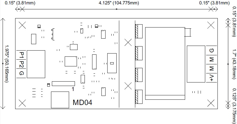 MD04 Motor driver connections
