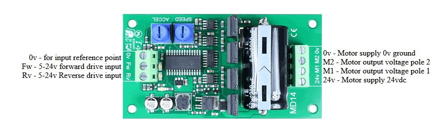 MD14 Motor driver connections
