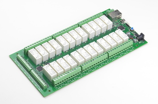 dScript2824-12 - 24 x 16A ethernet relay with 12 snubbers DEV-DS2824-12